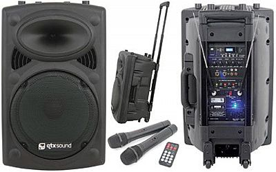 Qtx Sound Qr12pa Portable Pa System Speed Music