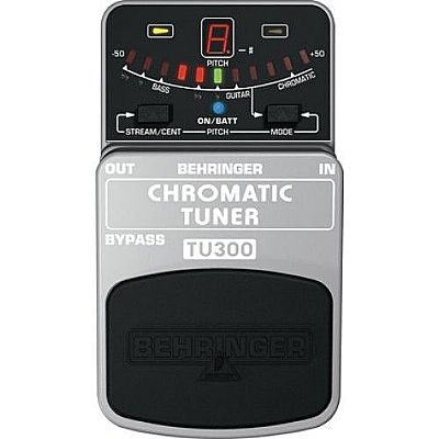 behringer tu300 chromatic guitar bass tuner pedal speed music. Black Bedroom Furniture Sets. Home Design Ideas