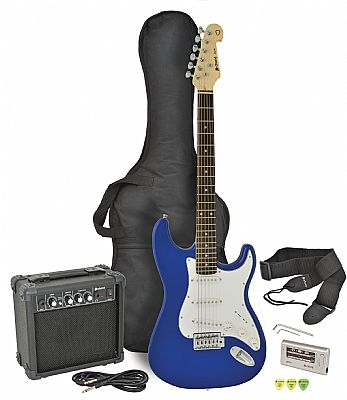 chord cal63pk electric guitar amp pack blue finish speed music. Black Bedroom Furniture Sets. Home Design Ideas
