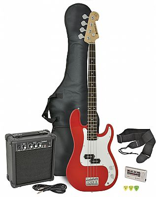 chord cab41pk electric bass guitar amp pack red finish speed music. Black Bedroom Furniture Sets. Home Design Ideas