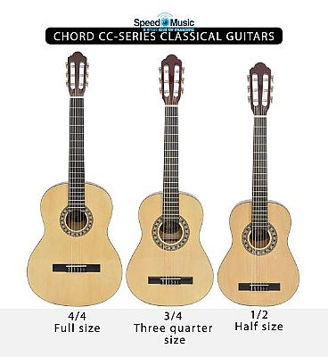 chord cc series classical guitar 1 2 half size speed music. Black Bedroom Furniture Sets. Home Design Ideas