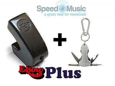 The Ebow Plus Sustainer Bundled With Guitarists Pocket Multi Tool