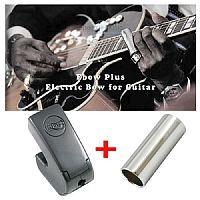 Ebow Plus Hand Held Sustainer: bundled with a Metal Guitar Slide