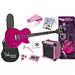 Daisy Rock Rock Candy Electric Guitar Starter Package in Atomic Pink