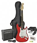 Chord CAL63PK Electric Guitar + Amp Pack (Red finish)