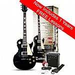 Rockburn LP2 Electric Guitar Package - Black